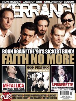 Faith No More on the cover of Kerrang (© Kerrang)