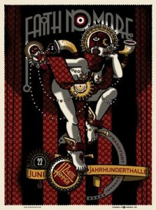 Faith No More Berlin poster ((c) http://www.secretserpentsstore.com )