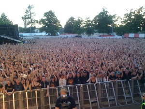 Roddy's picture taken from the stage